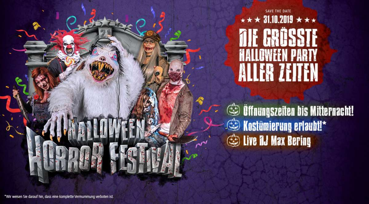 Movie Park Germany lädt zur größten Halloween-Party aller Zeiten!