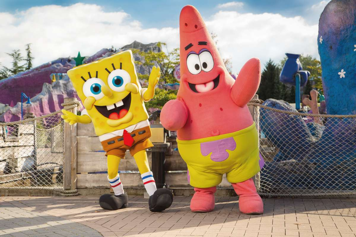 Spongebob und Patrick im Movie Park Germany
